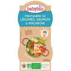 Babybio Groenten zalm pasta 12 maanden 200 gram (2 stuks)