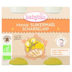 Babybio Zachte mais met kip 200 gram (2 stuks)