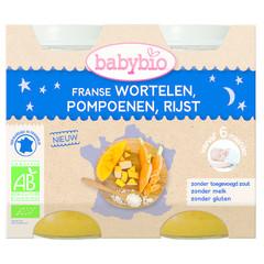 Babybio Wortel pompoen rijst 200 gram (2 stuks)