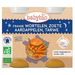 Babybio Wortel & zoete aardappel tarwe 200 gram (2 stuks)