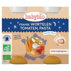 Babybio Wortel tomaat pasta 200 gram (2 stuks)