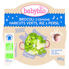 Babybio Mon petit plat broccoli princessenbonen rijst (230 gram)