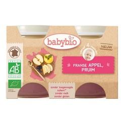 Babybio Dessert appel pruim 130 gram (2 stuks)