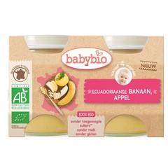 Babybio Dessert appel banaan 130 gram (2 stuks)