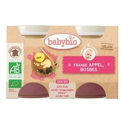 Babybio Dessert appel bosbes 130 gram (2 stuks)