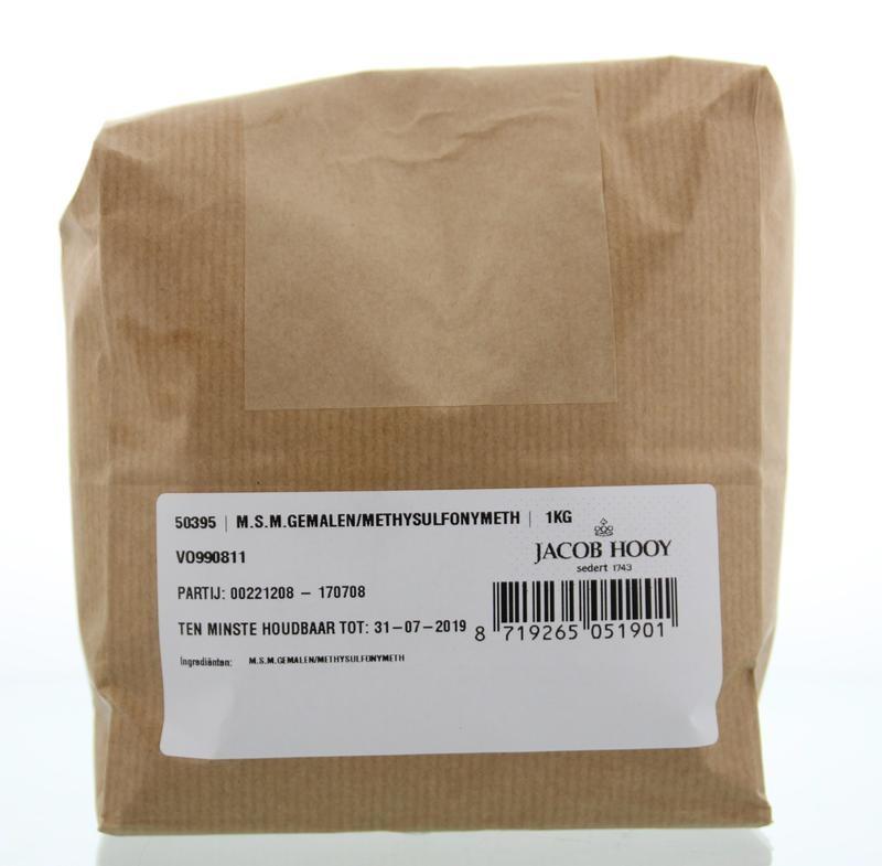 Jacob Hooy Jacob Hooy MSM gemalen methylsulfonylmethaan (1 kilogram)