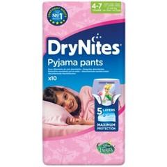 Huggies Drynites girl 4-7 jaar (10 stuks)