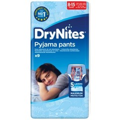Huggies Drynites boy 8-15 jaar (9 stuks)
