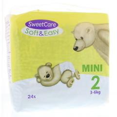 Sweetcare Luiers soft & easy mini nr 2 3-6kg (24 stuks)