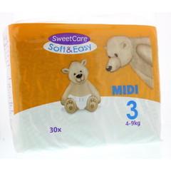 Sweetcare Luiers Soft & easy midi nr 3 4-9kg (30 stuks)