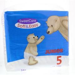 Sweetcare Luiers soft & easy junior nr 5 11-25kg (24 stuks)