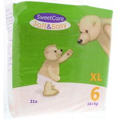 Sweetcare Luiers soft & easy XL nr 6 16+ kg (21 stuks)