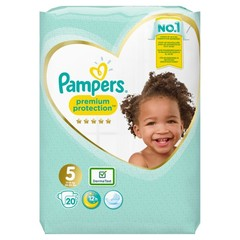Pampers Premium protection junior S5 (20 stuks)