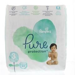 Pampers Pure protection 6 - 10 kg maat 3 (22 stuks)
