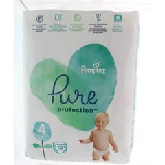 Pampers Pure protection 9 - 14 kg maat 4 (19 stuks)