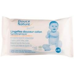 Douce Nature Babydoekjes bio katoen (40 stuks)