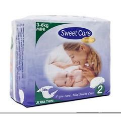 Sweetcare Premium mini maat 2 3-6 kg (36 stuks)