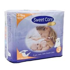 Sweetcare Premium midi maat 3 4-9kg (38 stuks)
