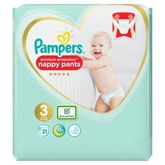 Pampers Premium protection pants maat 3 (21 stuks)