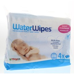 Waterwipes Babydoekjes 4 x 60 stuks (240 stuks)