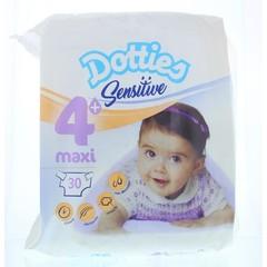 Dotties Sensitive baby luiers maxi 4+ (30 stuks)