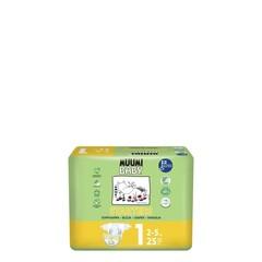Muumi Baby Eco luiers maat 1 newborn 2-5 kg (25 stuks)