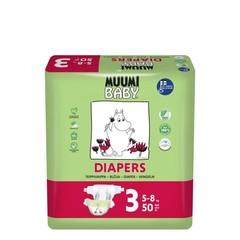 Muumi Baby Eco luiers maat 3 midi 5-8 kg (50 stuks)