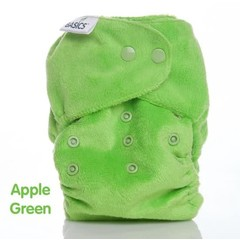 Basics Wasbare luier all in two groen (1 stuks)