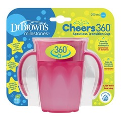 Dr Brown's Cheers 360 cup roze 200 ml (1 stuks)