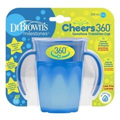 Dr Brown's Cheers 360 cup blauw 200 ml (1 stuks)