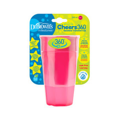 Dr Brown's Cheers 360 cup roze 300 ml (1 stuks)