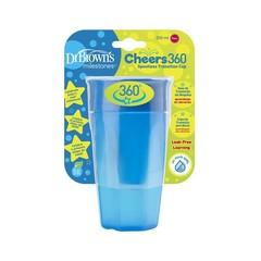 Dr Brown's Cheers 360 cup blauw 300 ml (1 stuks)