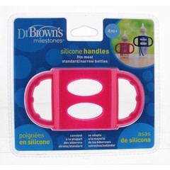 Dr Brown's Siliconen handvat voor standaard hals roze (1 stuks)