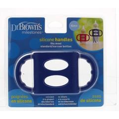 Dr Brown's Siliconen handvat voor standaard hals blauw (1 stuks)