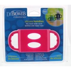 Dr Brown's Siliconen handvat voor brede hals roze (1 stuks)