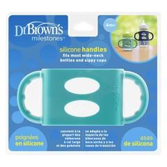Dr Brown's Siliconen handvat voor brede hals turquoise (1 stuks)