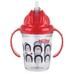 Nuby Antilekbeker 240 ml rood 12 maanden + (1 stuks)