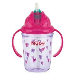 Nuby Antilekbeker 240 ml roze 12 maanden + (1 stuks)