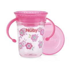 Nuby Wonder cup 240 ml roze 6 maanden+ (1 stuks)