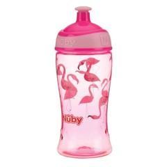 Nuby Pop-up beker 360 ml roze 3 jaar+ (1 stuks)