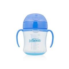 Dr Brown's Drinkbeker blauw 180 ml zachte tuit (1 stuks)