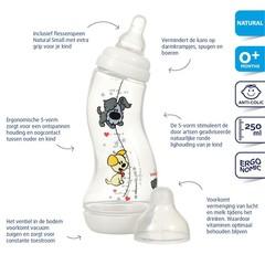 Difrax S-fles woezel & pip 250 ml (1 stuks)