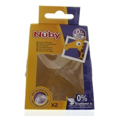Nuby Replacement nipple slow flow (2 stuks)
