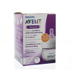 Avent Zuigfles natural newborn 60 ml (1 stuks)