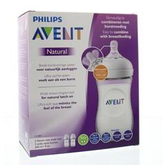 Avent Zuigfles natural 260 ml inclusief speen (2 stuks)