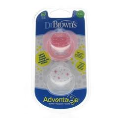 Dr Brown's Fopspeen advantage 0-6 maand roze (2 stuks)