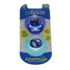 Dr Brown's Fopspeen advantage fase 1 blauw (2 stuks)