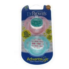 Dr Brown's Fopspeen advantage fase 2 roze (2 stuks)