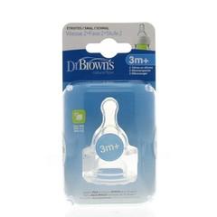 Dr Brown's Speen standaard hals fles fase 2 (2 stuks)