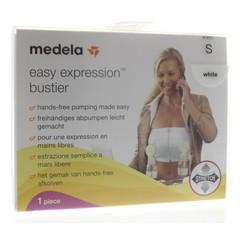 Medela Bustier easy expression wit maat S (1 stuks)